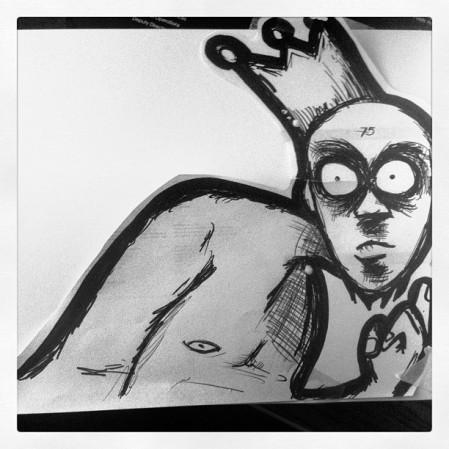 """""""Paranoid King Sketch"""""""